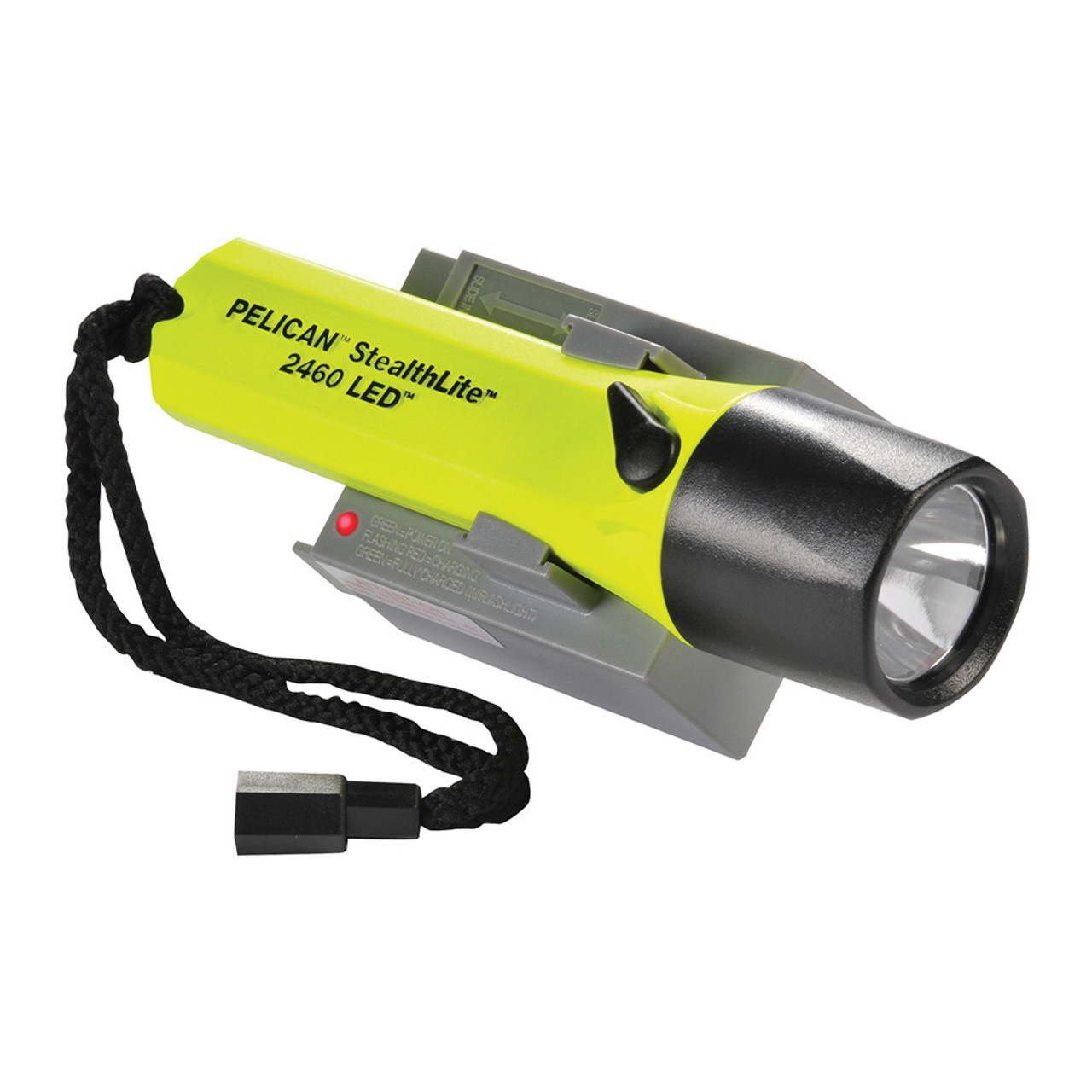 Pelican StealthLite™ LED Flashlight with Rechargeable Battery Pack, Waterproof, Available in Black or High Visibility Yellow 2460