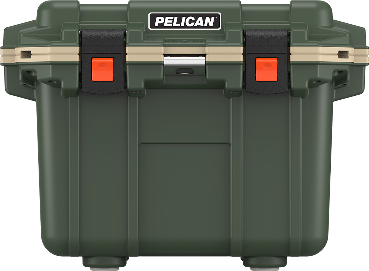 Pelican Elite 30 Quart Cooler with Built In Bottle Opener, and Integrated Cup Holders, 26x20x20, 25 lbs