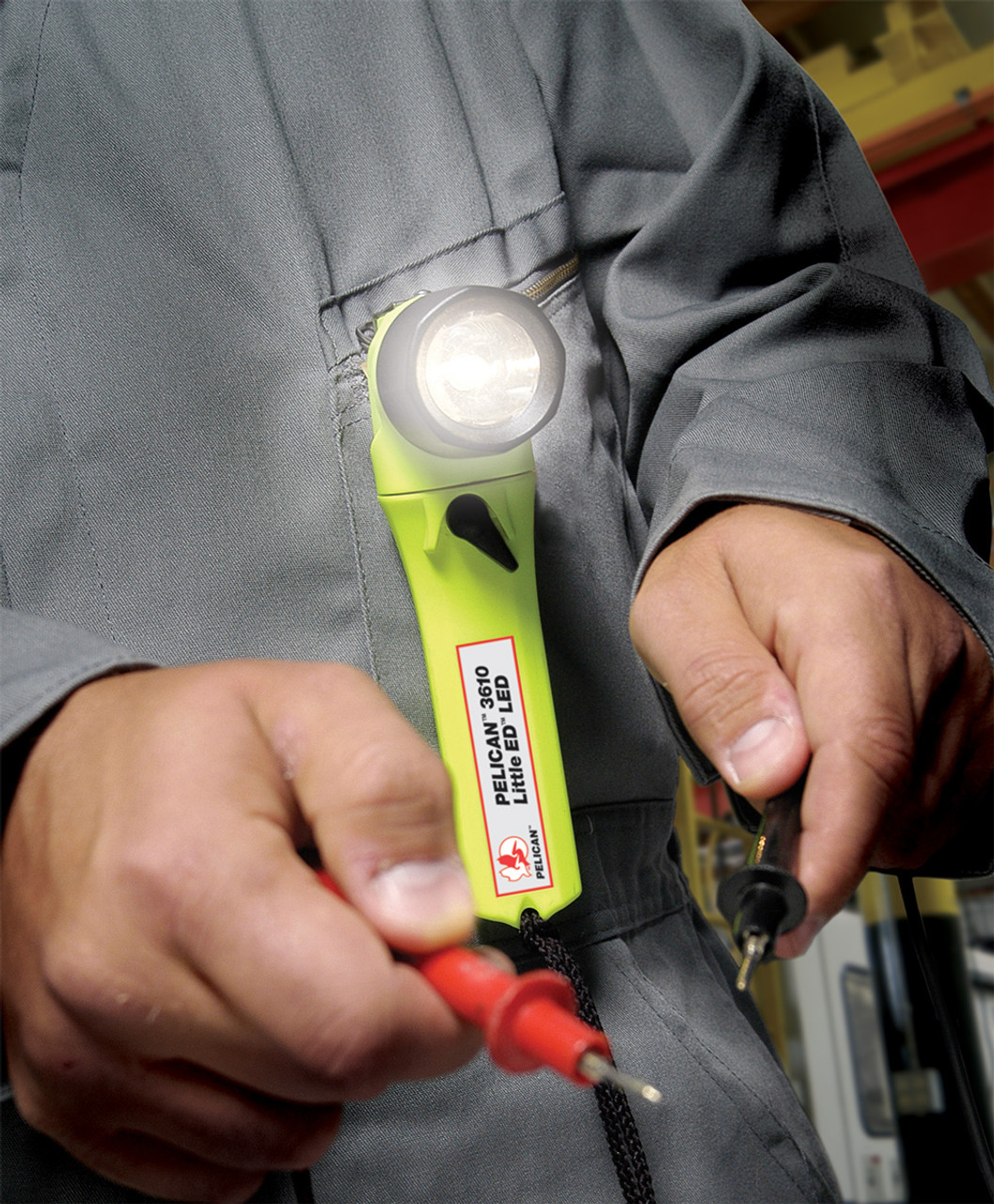 Pelican Little Ed™ Right Angle LED Flashlight, Available in High Visibility Yellow or Black 3610