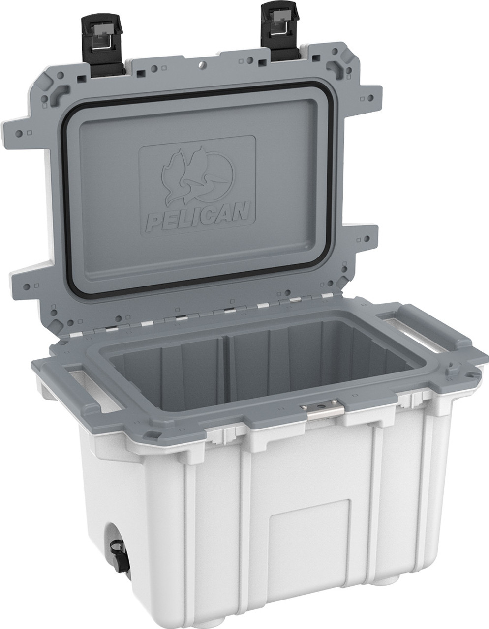 Pelican Elite IM50QT Quart Cooler with Built In Bottle Opener, and Integrated Cup Holders, 31x21x21, 31 lbs