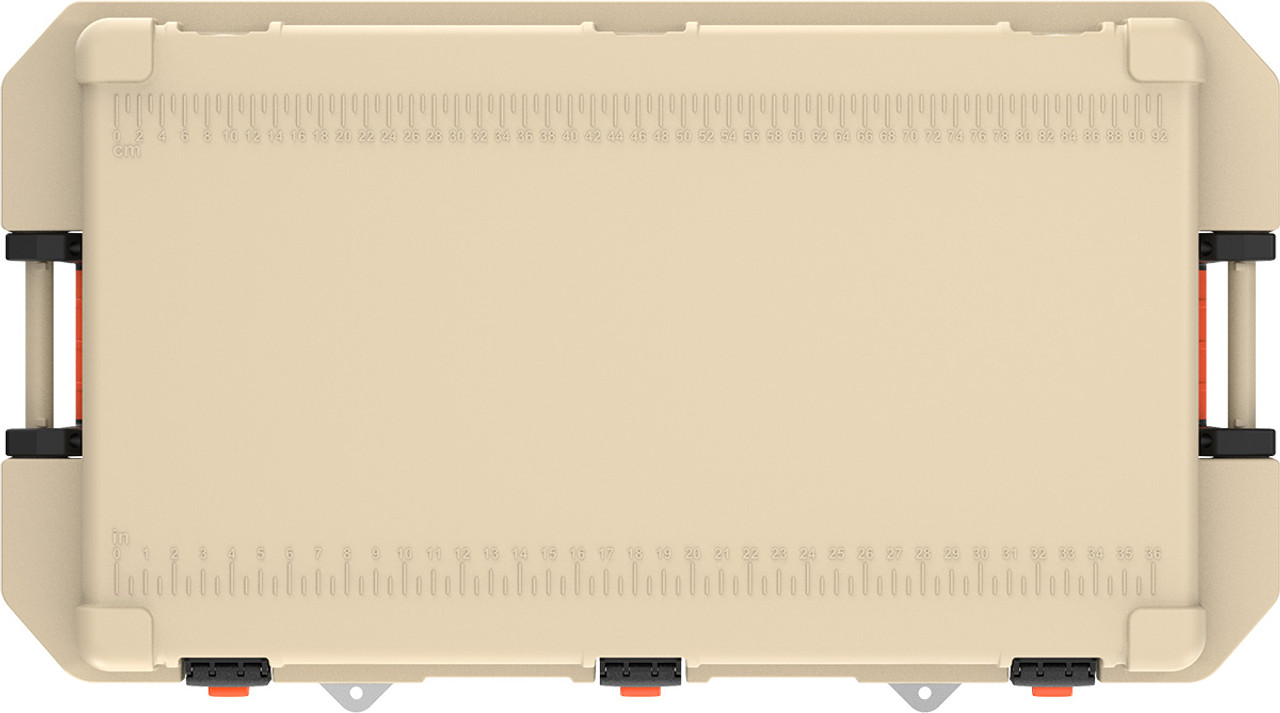 Pelican 150QT Elite Cooler With Corrosion Resistant Stainless Steel Hardware, Available in Tan or White, 46x26x26, 80 lbs