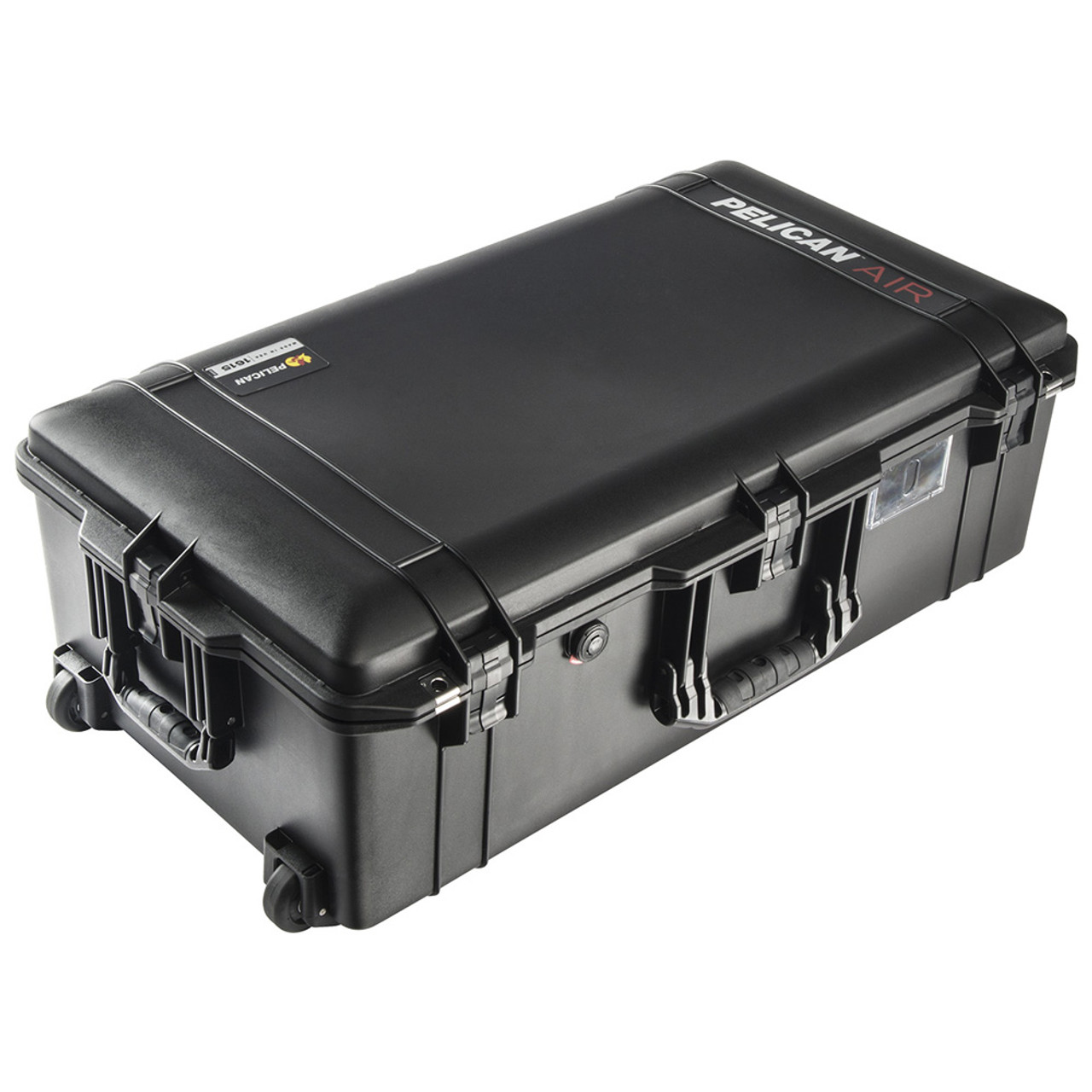 Silver /& Red Pelican 1615 Air case No Foam With wheels.