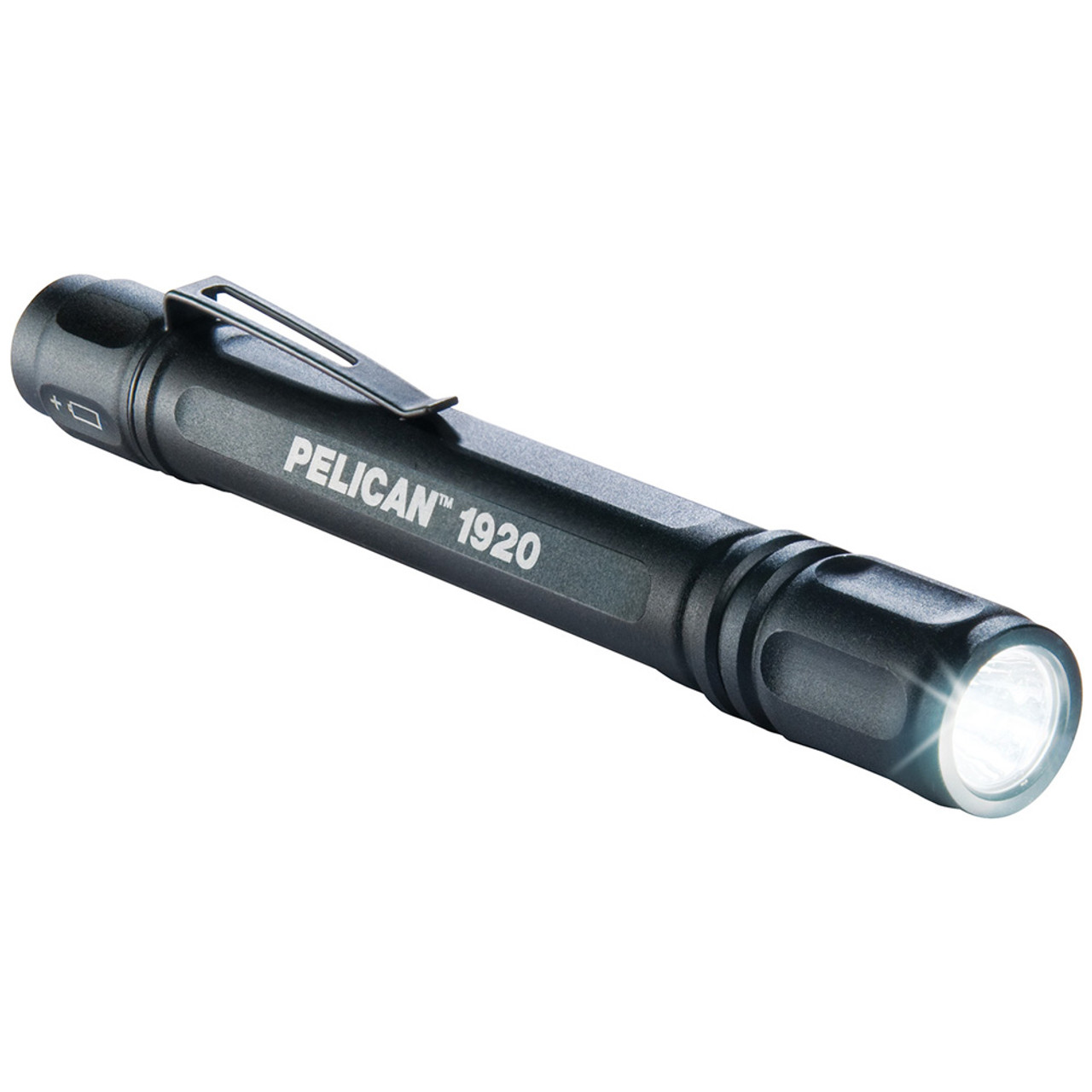 Pelican 1920 Compact LED Flashlight, (AAA Battery) (Black, Blue, Red)
