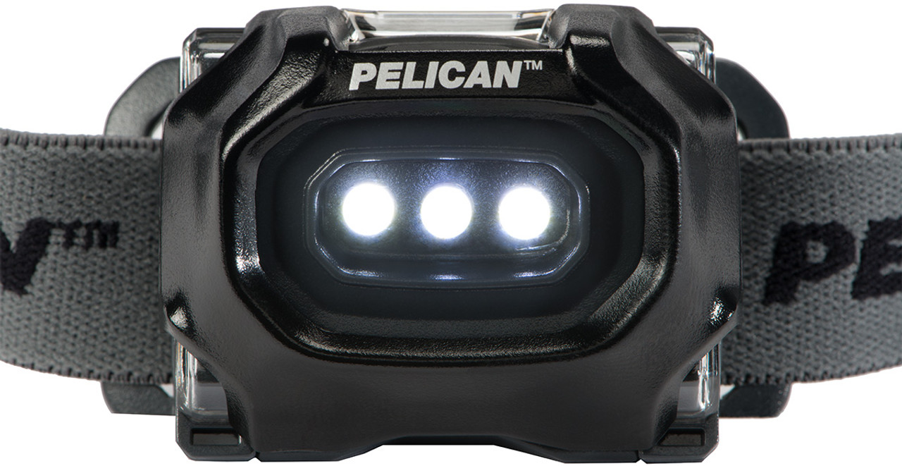 Pelican LED Headlamp, Comfortable Cloth Strap, Available in Black or High Visibility Yellow 2745