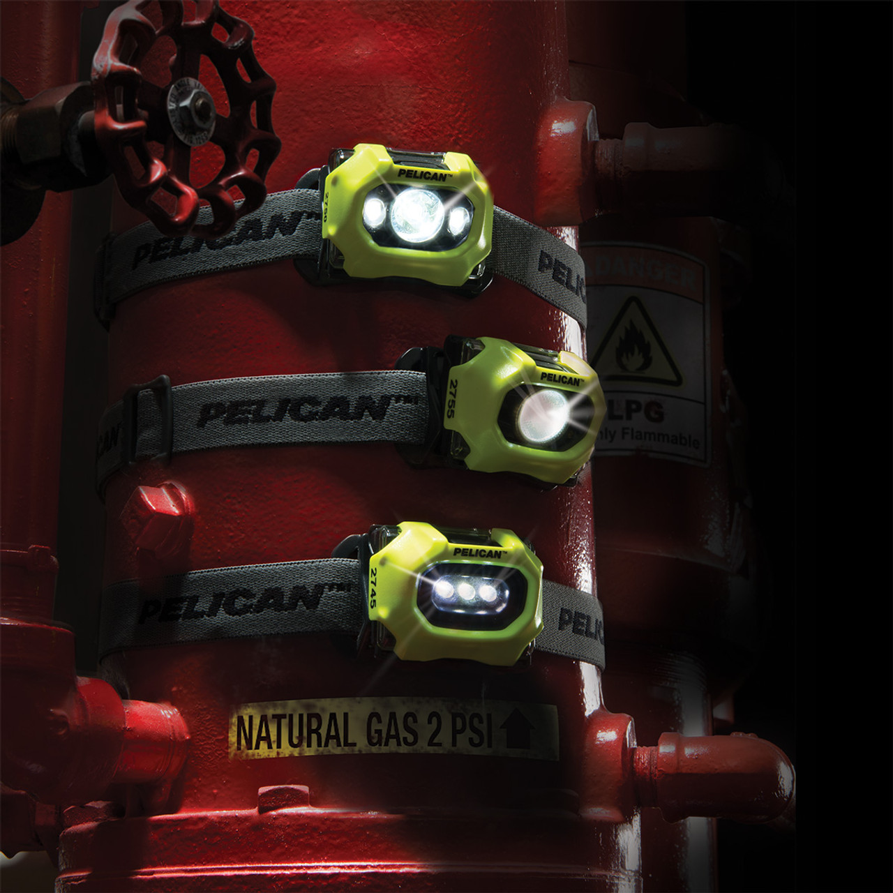 Pelican LED Headlamp, Comfortable Cloth Strap, Available in Black or High Visibility Yellow 2755