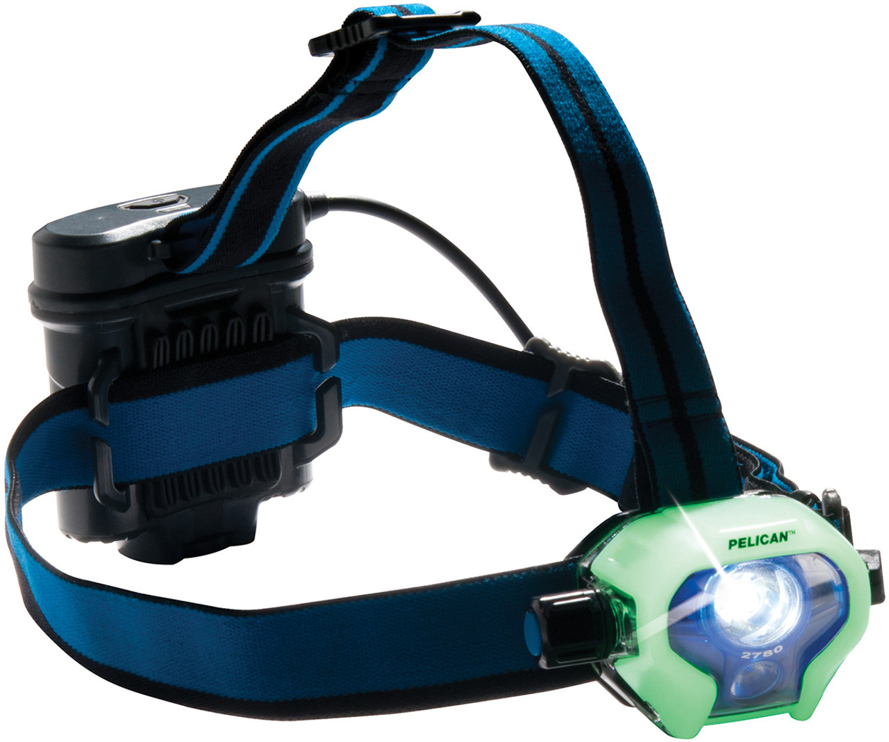 Pelican LED Headlamp, 430 lumens, 4 AA Batteries Included, with 3 Interchangeable Covers (Black, White, Photoluminescent) 2780