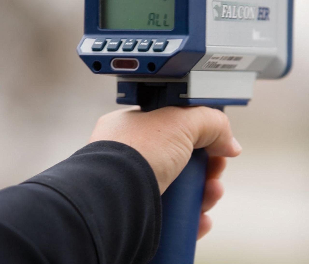 Kustom Signals Falcon HR Police Radar Gun, Hand-held or Dash Mount, corded or cordless handle