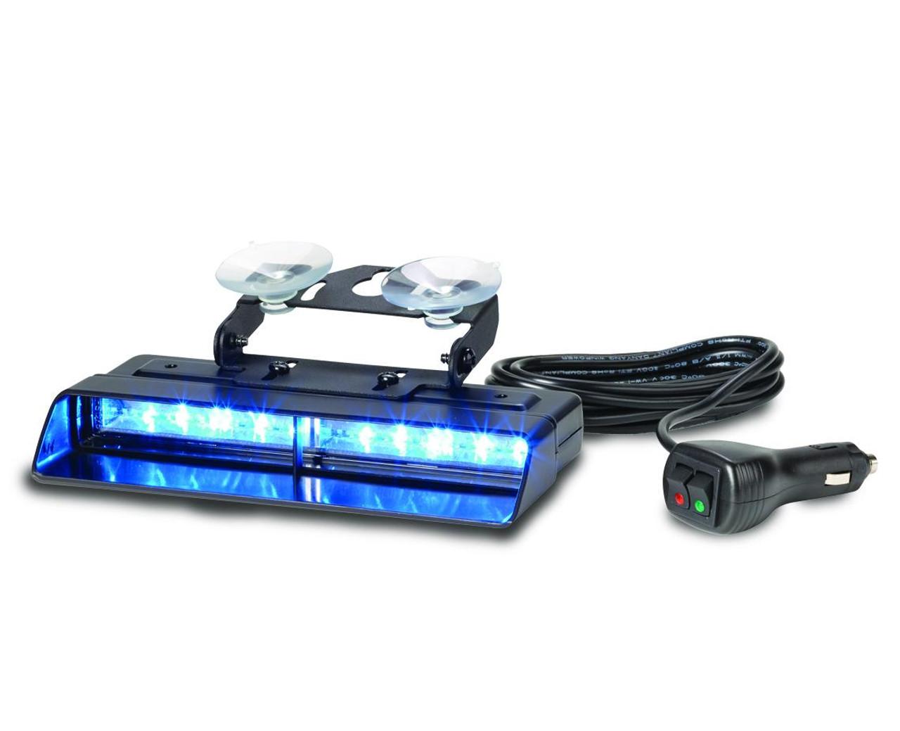 Federal Signal XStream™ Dual Interior Dash Deck Mount Warning LED Light, 3 colors per head, removable shroud
