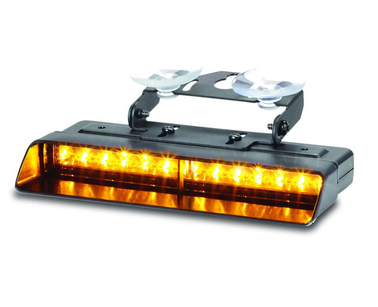 Federal Signal XStream™ Dual Interior Dash Deck Mount Warning LED Light, 3 colors per head, removable shroud