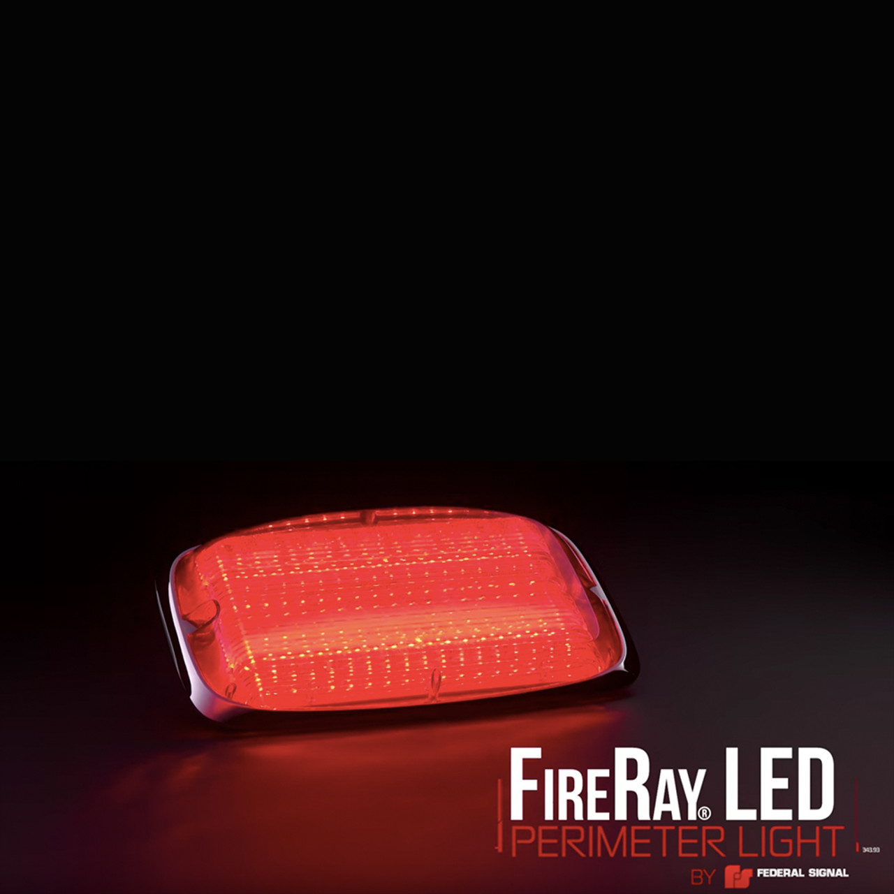 Federal Signal FireRay® LED Perimeter Surface Mount Light Head 9x7, single or split color