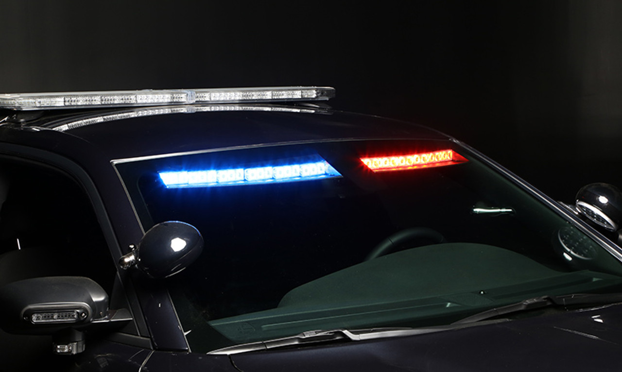 Whelen Inner Edge® FST™ Chevy Tahoe 2015-2020 ISF-45-, & 2021+ ISF-54-, Upper Front Facing Interior Light Bar, Low Current Switching or WeCan®, SOLO or DUO LEDs per light head