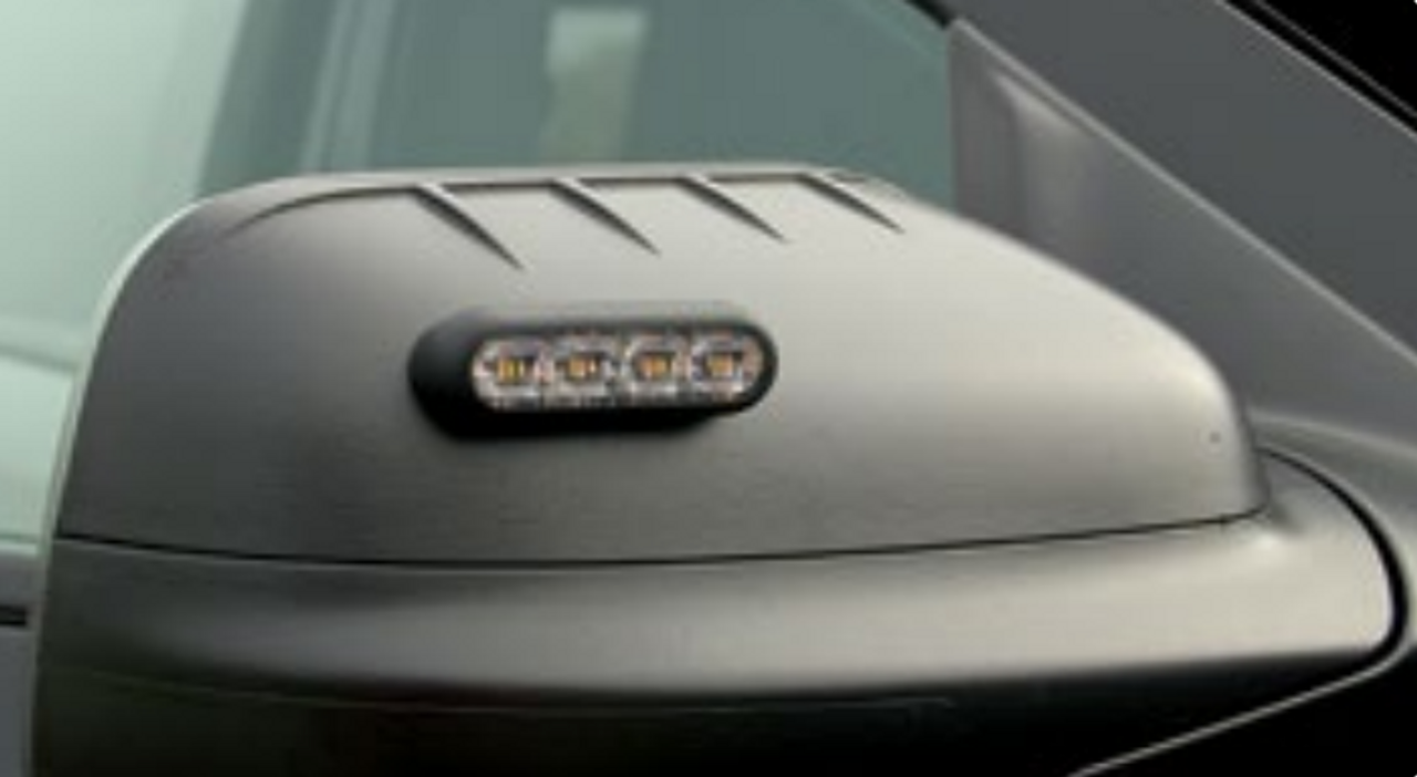 "Soundoff Side-view Mirror LED mPower Fascia Light-heads, 4"", dual color 12-LED's per light head, Pair, Kit, Universal Mount"