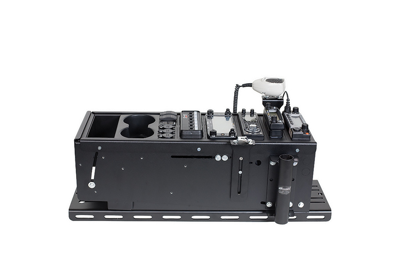 Gamber Johnson 7160-0770 25 inch Universal Console Box, includes 3 faceplates and 3 filler panels with optional Floor Plate