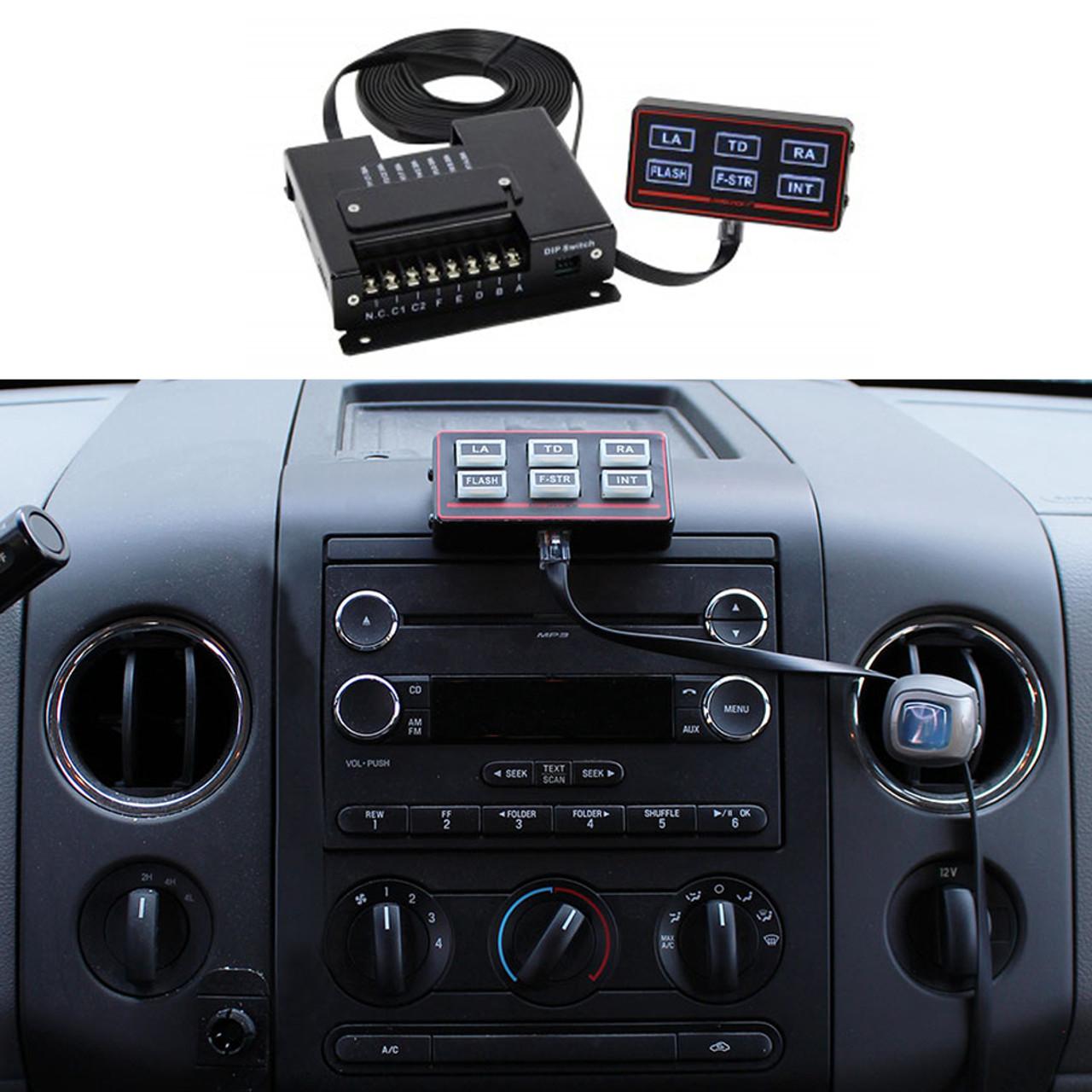 Code-3 Remote Rocker Max Pak™ Switch Box, Programmable, 6 Backlit Button Control Head