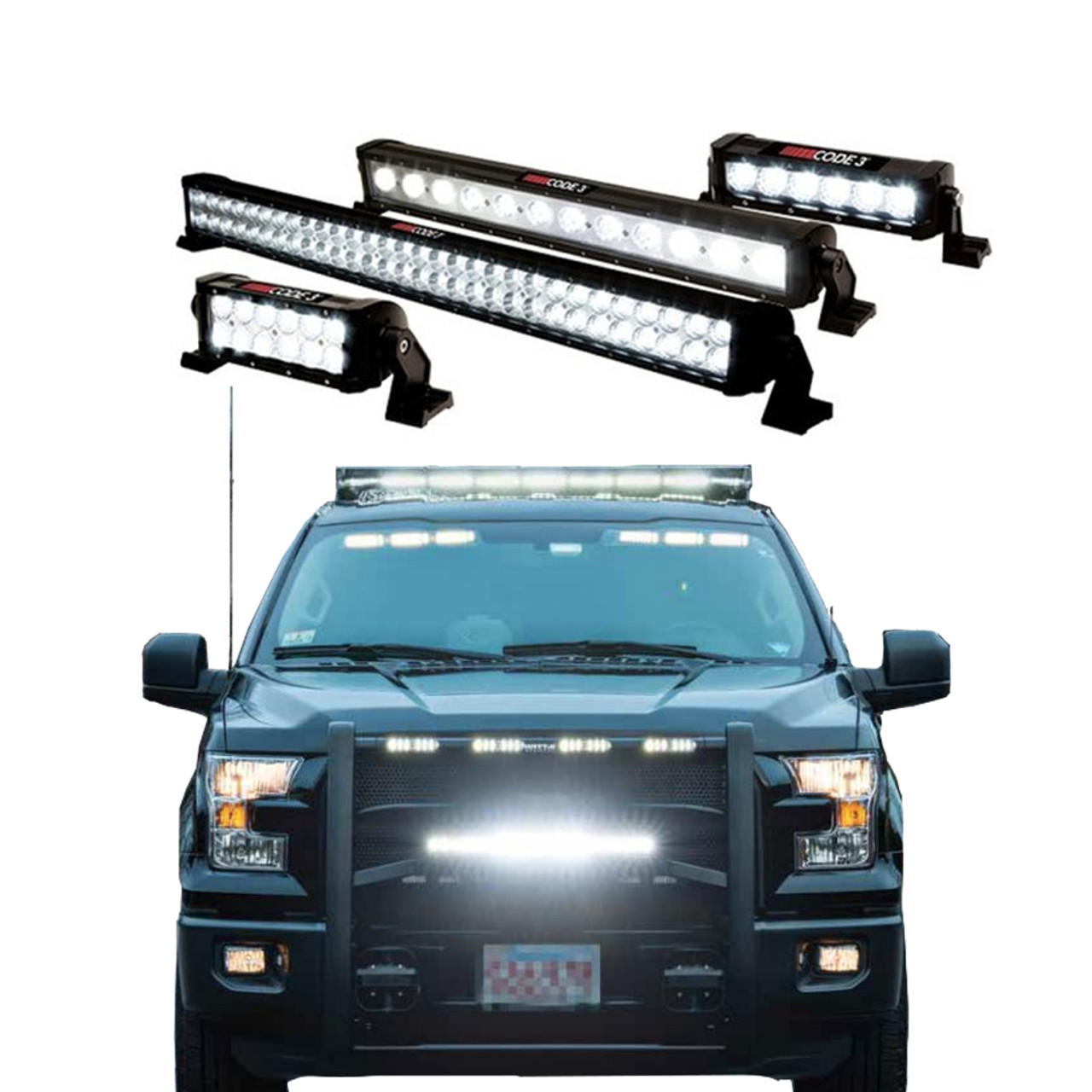Code-3 Utility Bars, Off Road Light Bar, Spot or Flood Beams