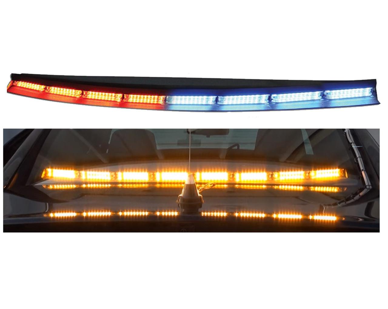Code-3 WingMan™ Flex Series Interior Light Bars, Long, CC, 8 TRS9 Single Color Torus Modules WMFLCC09