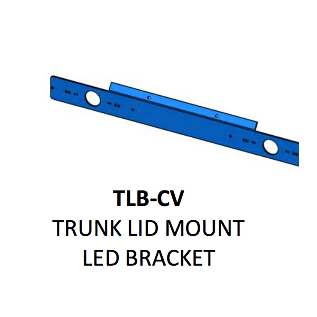 Code-3 Trunk Lid SIngle Bracket, For 2004-2011 Ford Crown Victoria Fits T-REX, XTP3, TRS3, LED X, and TRS6 Light heads TLB-CV
