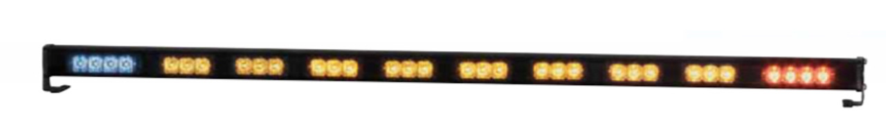"Code-3 XT NarrowStik™ Traffic Advisor, 39.625"" XT3 8-LED HD ArrowStik® with 1 red and 1 blue XT4 ends, no control panel XT310RAB"