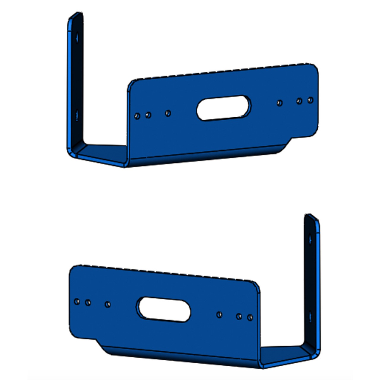 Code-3 Push Bumper pair Bracket, fits T-REX, XTP3, XTP4, and MR6 Light heads, Horizontal 45 Degree Angle PBH45