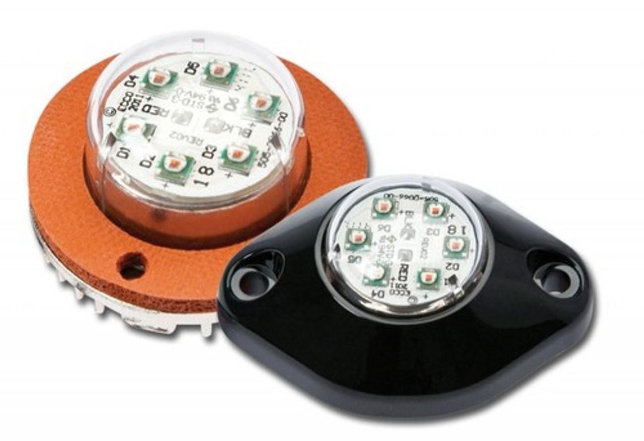 Code-3 Vibrant 6 LED Hide-A-Blast Hideaway Corner Light Heads, 1.7 inch VX