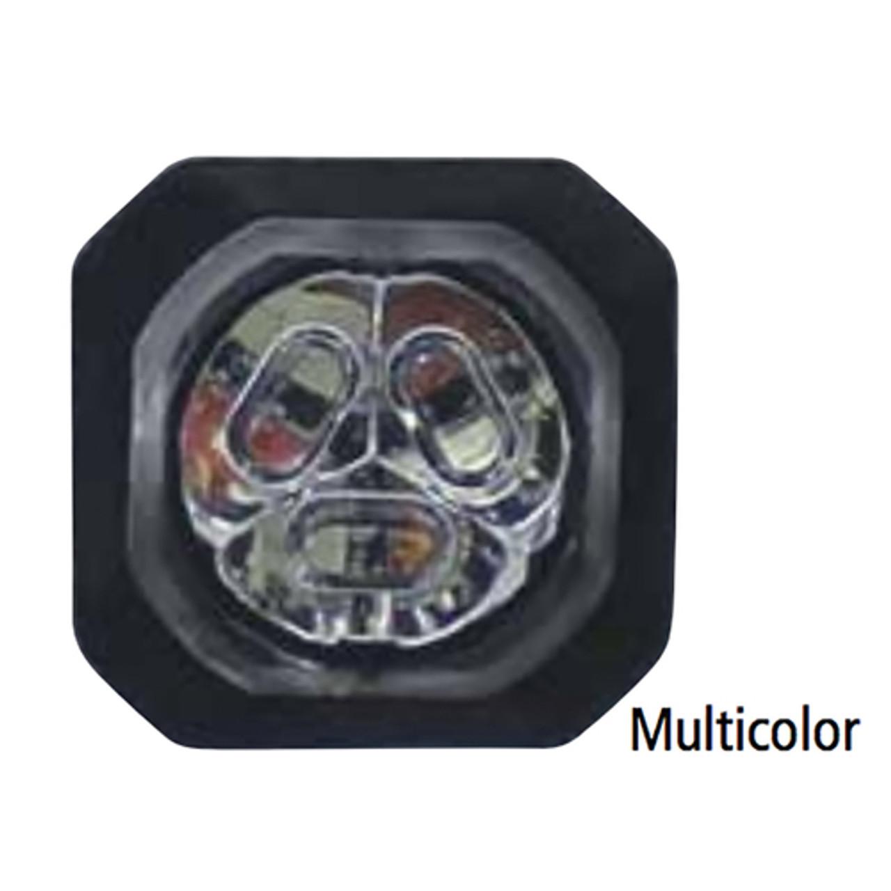 Code-3 4-Pack 6 LED Hide-A-Blast Hide Away Corner Light Head, Pair, Multicolor