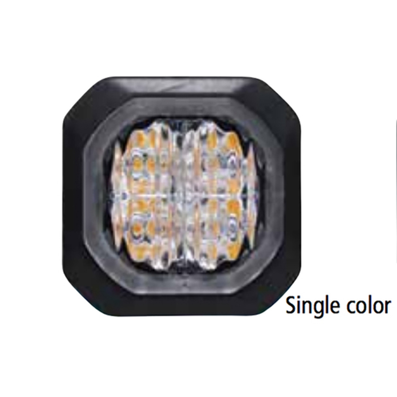 Code-3 4-Pack 6 LED Hide-A-Blast Hide Away Corner Light Head, Pair, Multicolor
