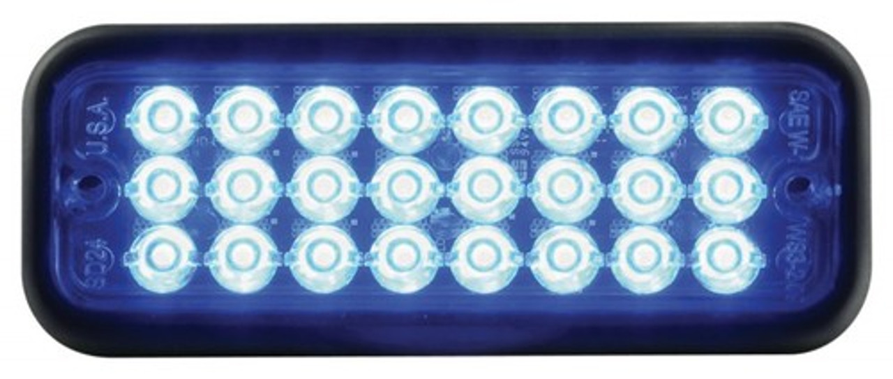 Code-3 SD24 Thin Surface/Flush Mount Light Head, Optional Chrome Bezel Available, 0.9 inches thick