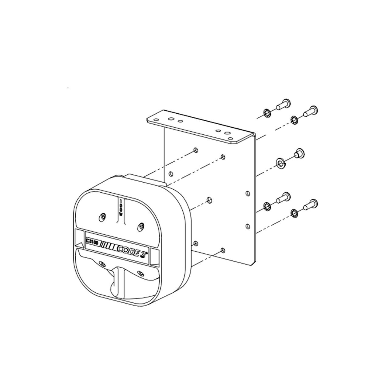 code 3 c3100 100 watt speaker 3-Way Switch Wiring Diagram