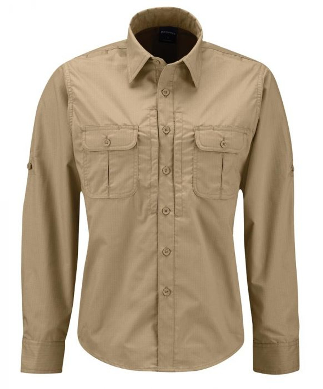 Propper F5399 Women's Kinetic® Tactical Button-Down Shirt, Long Sleeve, 79% Polyester 21% Cotton ripstop NEXStretch® fabric w/DWR, 2 Chest Pockets, Badge Tab, For Uniform or Casual use