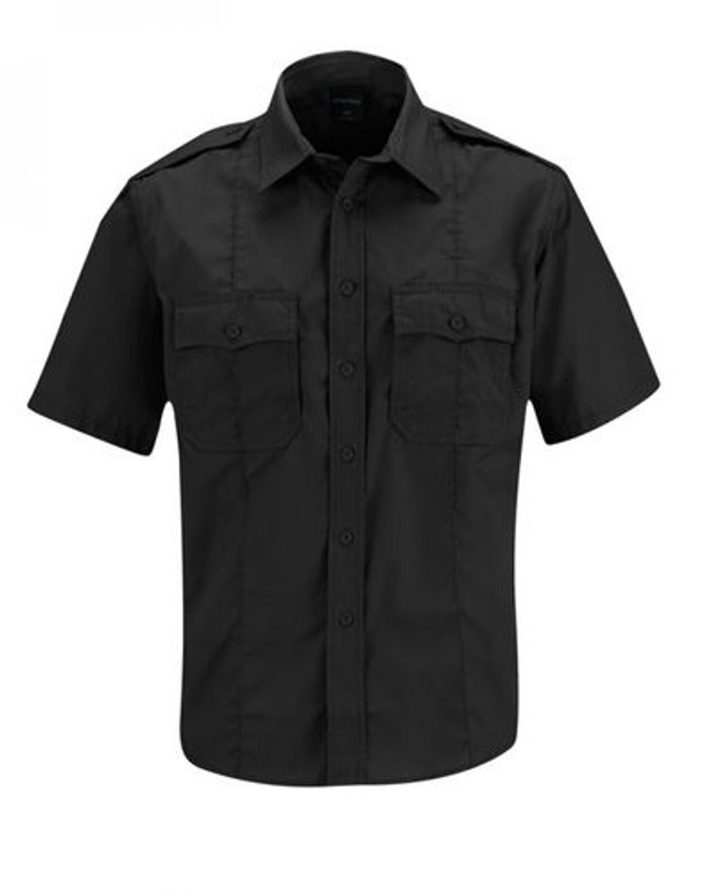 Propper® F5336-50 Men's Class B Tactical Uniform Button-Down Shirt, Short Sleeve, 2 Chest Pockets, Badge Tab, Polyester/Cotton lightweight ripstop w/Teflon™fabric protector, available in Black, Tan, and Navy
