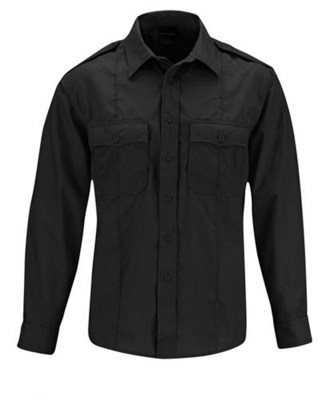 Propper® F5338-50 Men's Class B Tactical Uniform Button-Down Shirt, Long Sleeve, 2 Chest Pockets, Badge Tab, Polyester/Cotton ripstop w/Teflon™fabric protector, available in Black, Tan and Navy