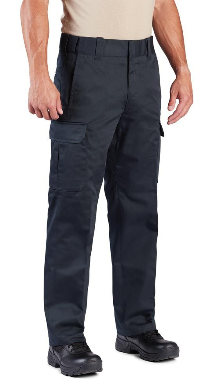 Propper F5292 Men's Class B Uniform Cargo Pants, Classic/Straight Fit, Adjustable Waistband, Polyester/Cotton with Teflon fabric protector, available in Black, LAPD Navy, and Khaki