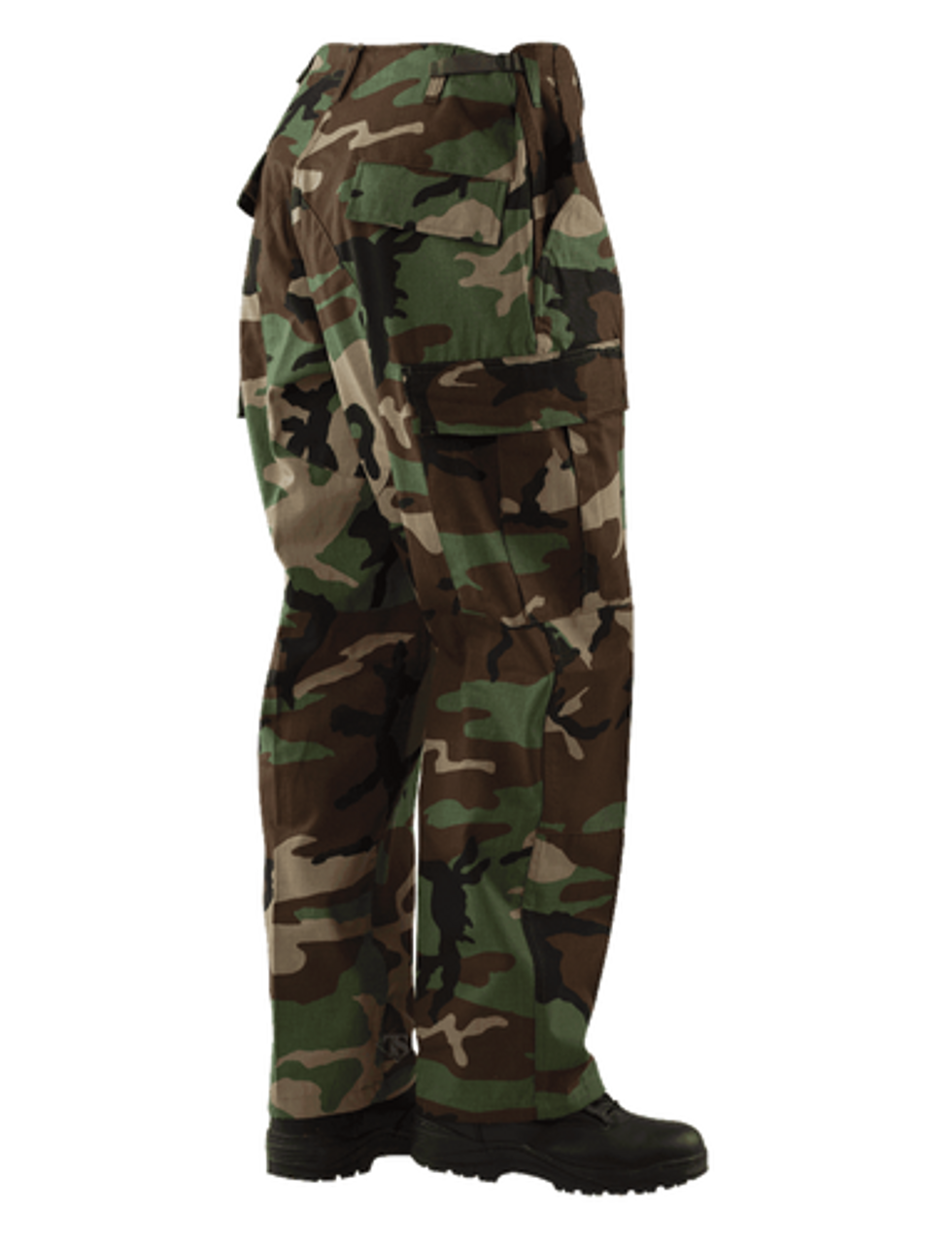 Tru-Spec 1219 BDU Men's Uniform Tactical Cargo Pants, 50/50 Nylon/Cotton Rip-Stop, Relaxed Fit, Two adjustable side tabs secured with four bartacks, Nylon drawstring leg ties