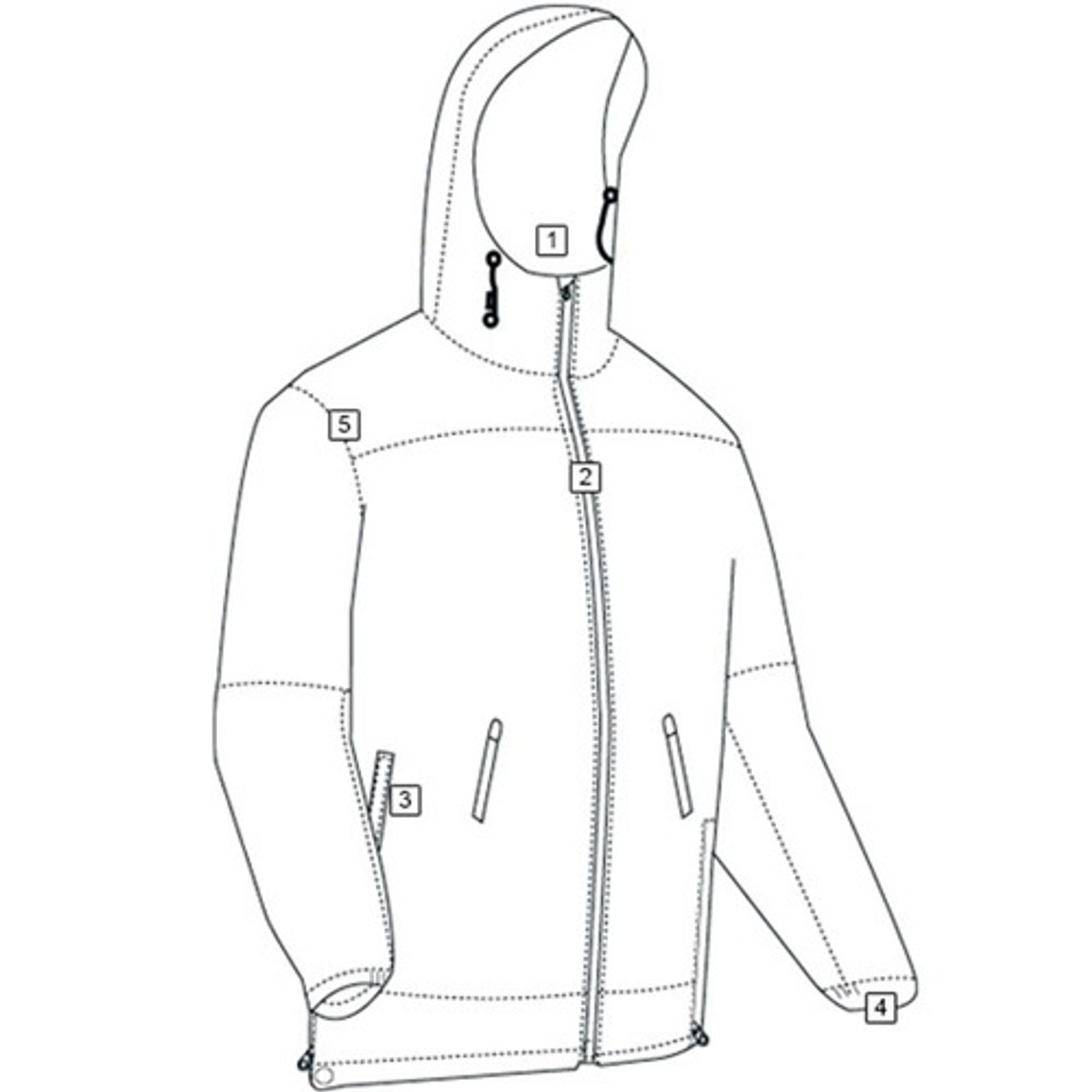 Tru-Spec TS-2402 Outerwear Water Proof All Season Rain Casual Tactical Jacket, Brimmed hood with drawstring, available in Black