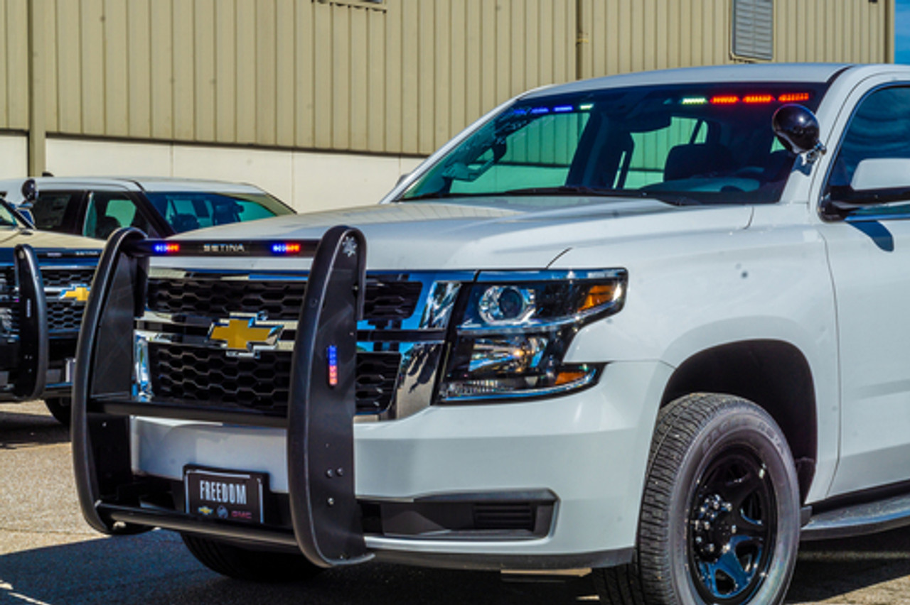 2019 4x4 White Tahoe PPV Slick-Top Admin with Red-Blue LEDs Ready for the  Road Turnkey Pre-built Police Package, Optional Prisoner Transport