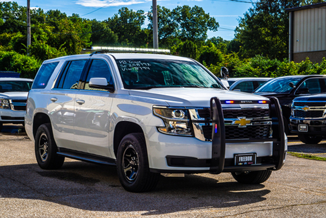 New 2020 4x4 White Tahoe PPV V8, ready to be built as a Marked Patrol Package, choose any color LEDs, 4WD, + Delivery