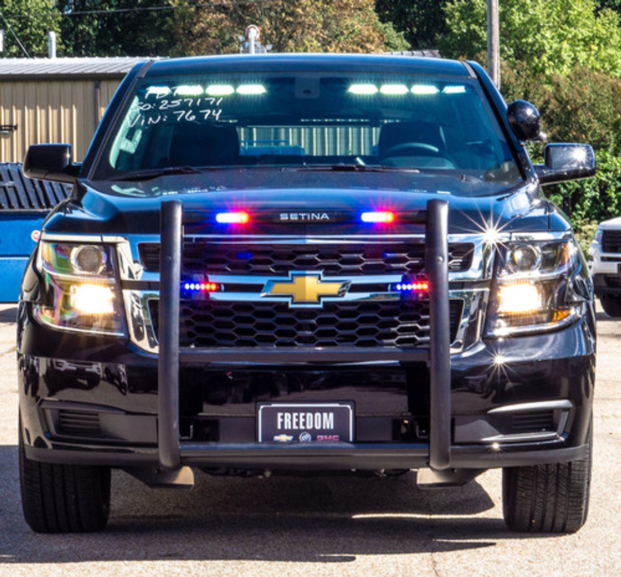 New 2019 Black Tahoe 4x4 PPV Slick-Top Admin Ready for the Road Turnkey Police Package pre-built with Red-Blue LED Lighting and Equipment,  Free Delivery, 4WD, V8