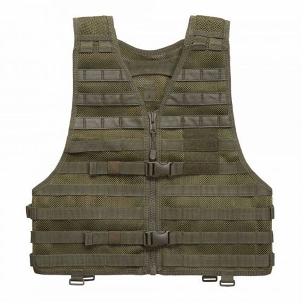 5.11 Tactical VTAC® LBE Tactical MOLLE Vest, Ready Pocket on Chest, Stiffened Mesh Nylon, available in black, flat dark earth,  TAC OD, or sandstone 58631
