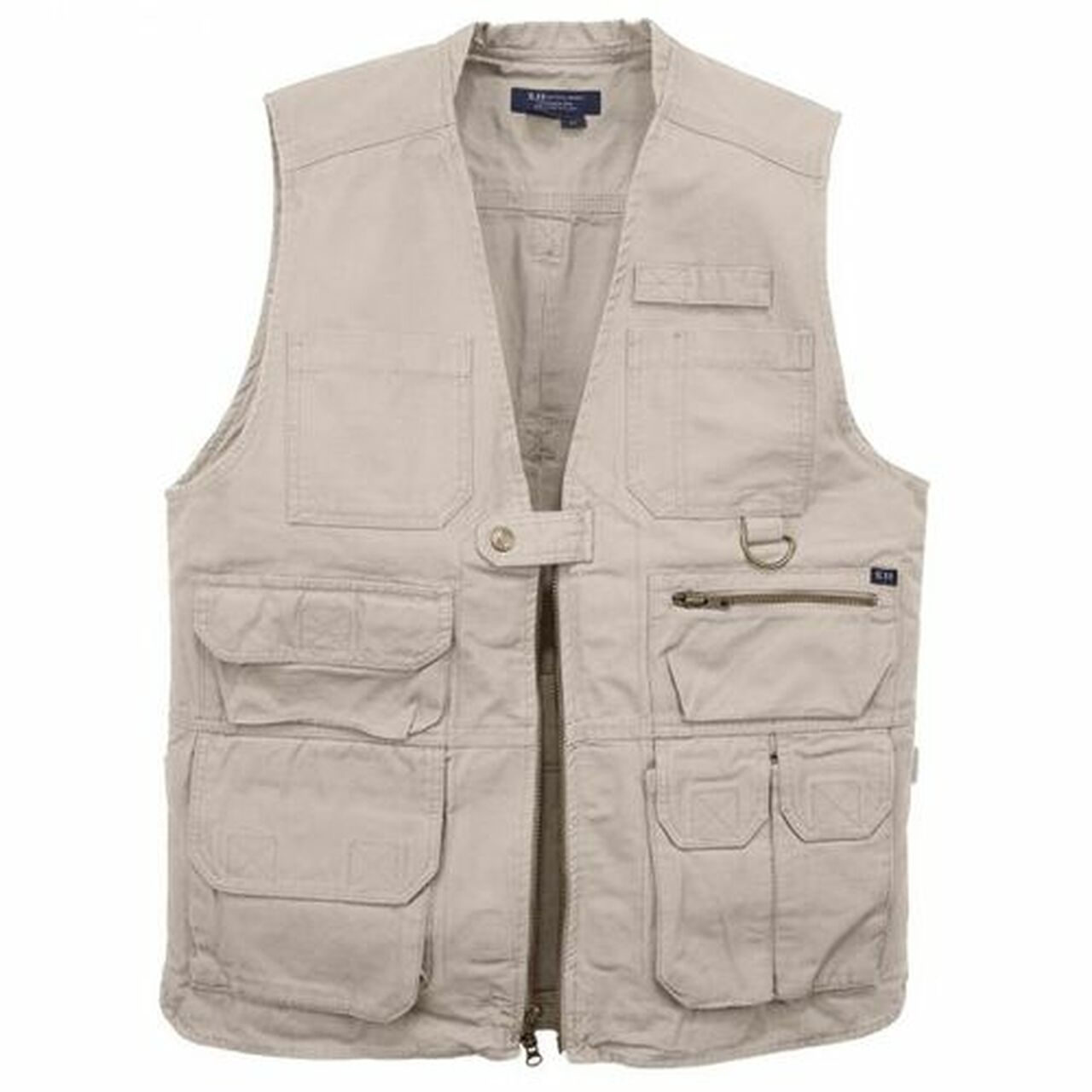 5.11 Tactical Vest, Seventeen Pockets, Twin Rear Hydration Pockets, 100% Cotton Canvas Fabric, available in Black or Khaki 80001