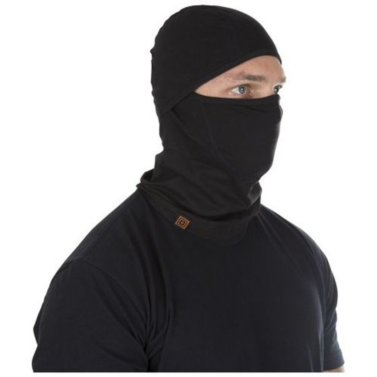 5.11 Tactical Balaclava, No Melt, No Drip Performance, Face Panel Shaping for Best Fit, available in Black or Dark Navy 89430
