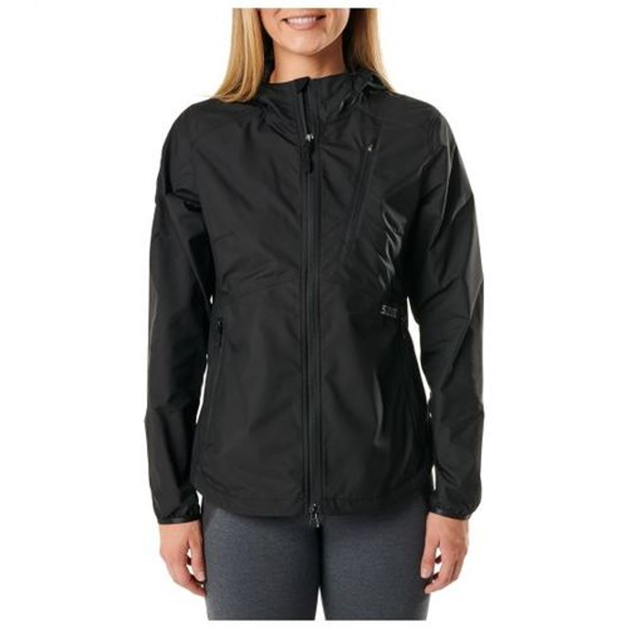 5.11 Tactical 38075 WOMEN'S CASCADIA WINDBREAKER PACKABLE JACKET, Venting at Upper Back Body, Packable Chest Pocket With Hanger Internal Loop