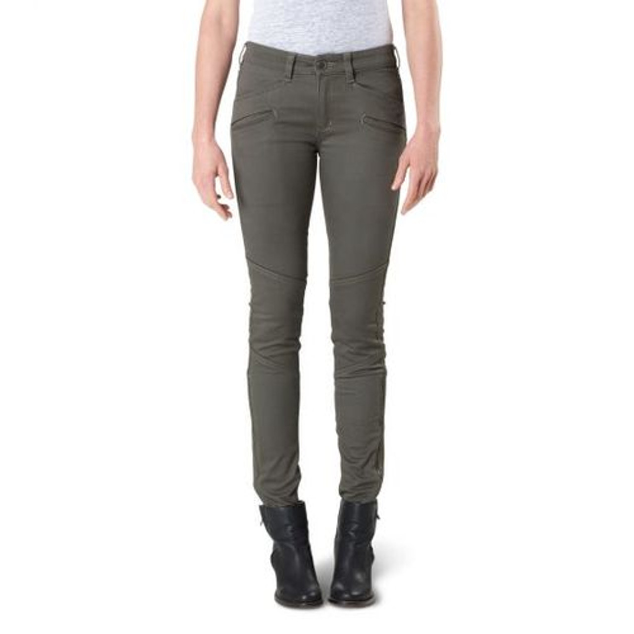 5.11 Tactical 64019 Women's Wyldcat Tactical Cargo Pants, Slim/Athletic Fit, Ammo Pocket, Cotton/Polyester/Spandex, Available in Rosewood, Black, Khaki, or Grenade