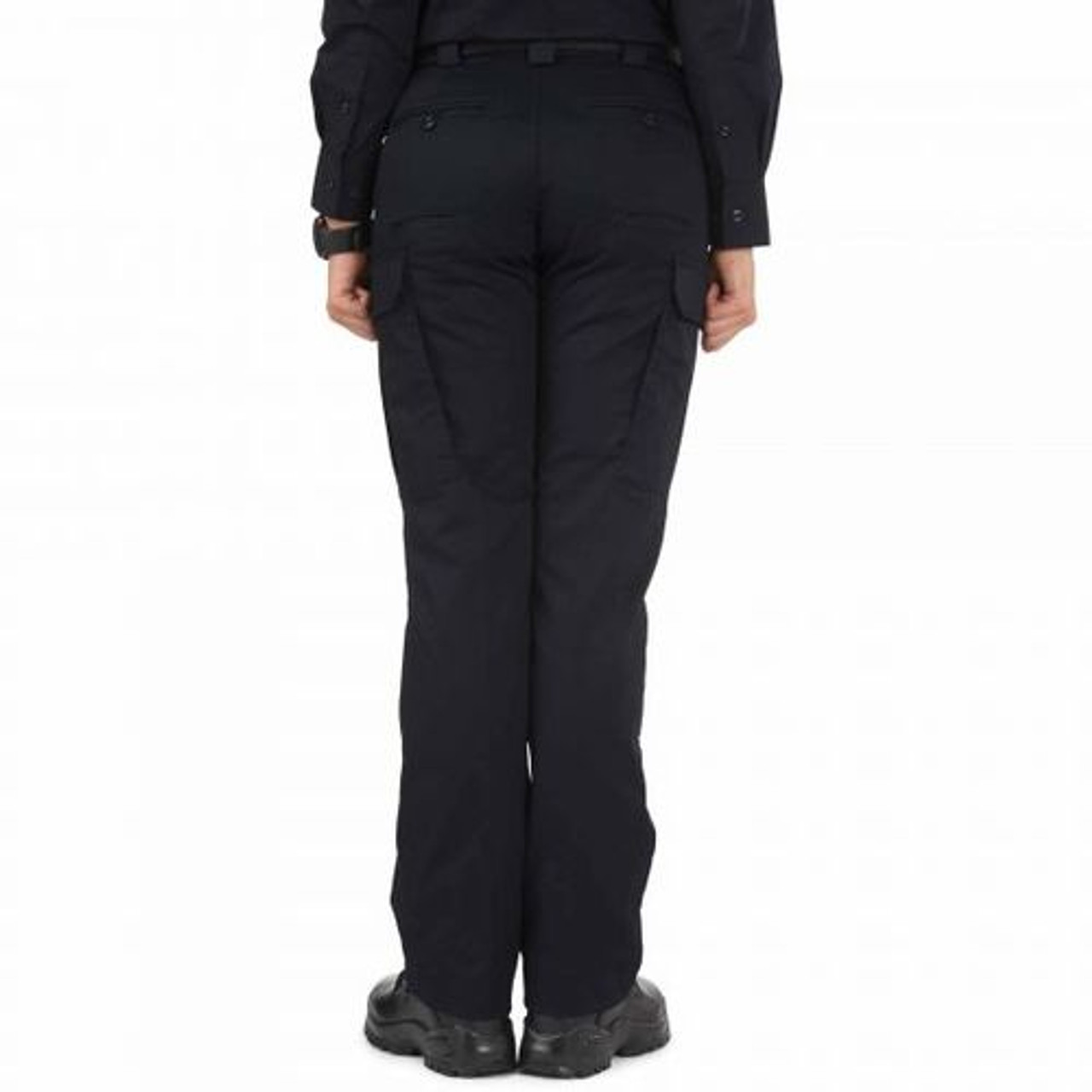 5.11 Tactical 64306 Women's Twill PDU Class-B Uniform Cargo Pants, Adjustable Waistband, Polyester/Cotton, Available in Black, Sheriff's Green, or Midnight Navy
