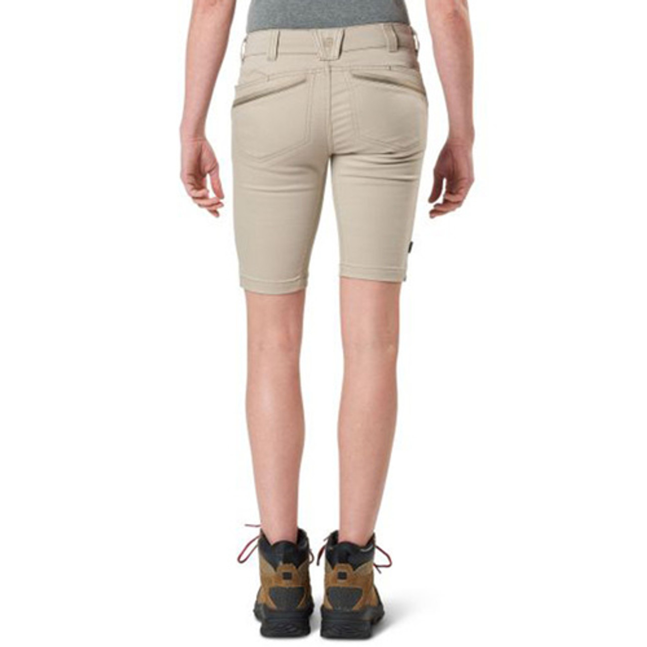 5.11 Tactical Triumph Women's Short, available in Black, Khaki, and Grenade 63307