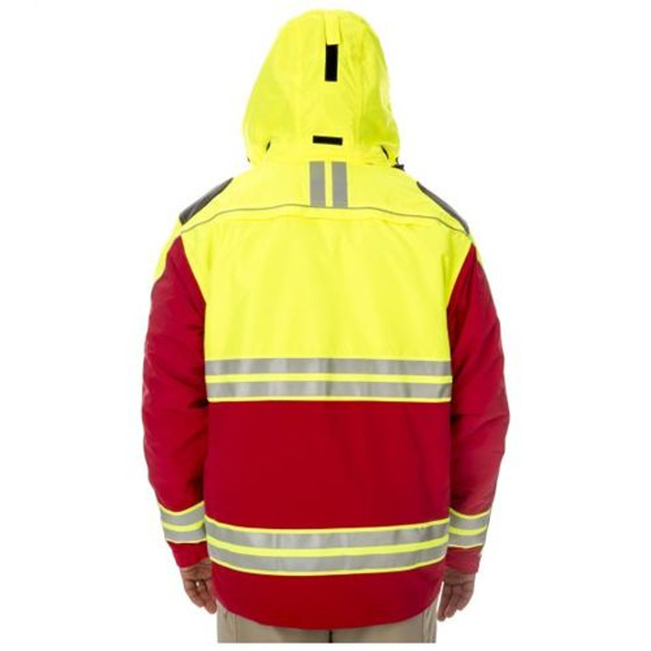 5.11 Tactical 48073 Responder High Visibility Parka, Uniform, Reflective, Waterproof, Water Resistant, Adjustable Cuffs, 2 Chest Pockets, available in Range Red, Royal Blue, and Dark Navy Blue