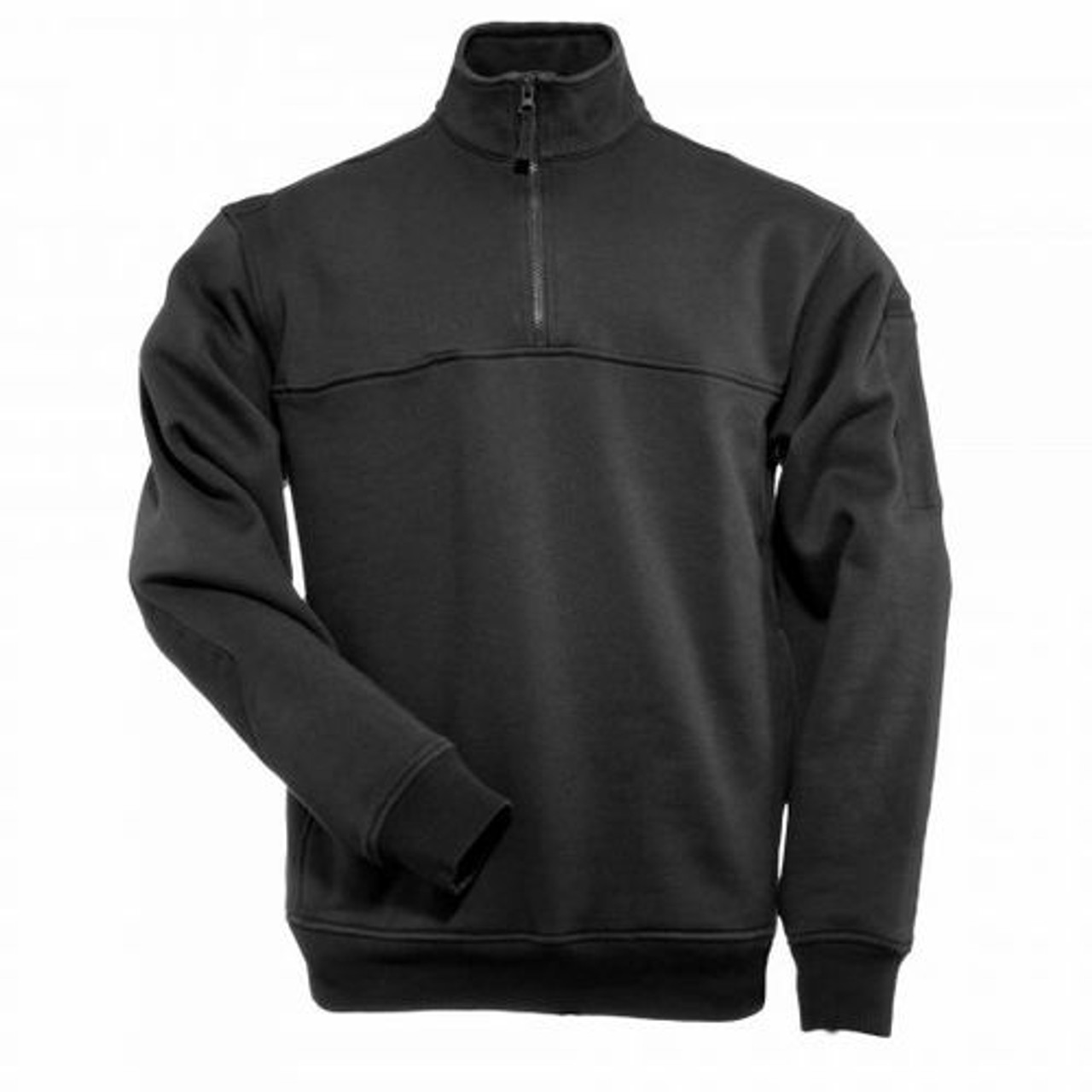 5.11 Tactical Pullover 1/4 ZIP JOB SHIRT, 80% cotton 20% polyester, Chest Break-Through™ pocket with hook and loop fastener divider, Mic pockets at both shoulders, Regular Fit, 72314
