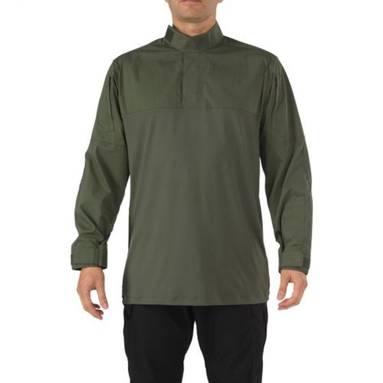 5.11 Tactical MEN'S 5.11 STRYKE® TDU® RAPID LONG SLEEVE SHIRT, 1/4 Zip, 87% polyester / 13% Spandex, Badge tab and epaulette kit, Regular Fit, Sleeve Pocket, 72071