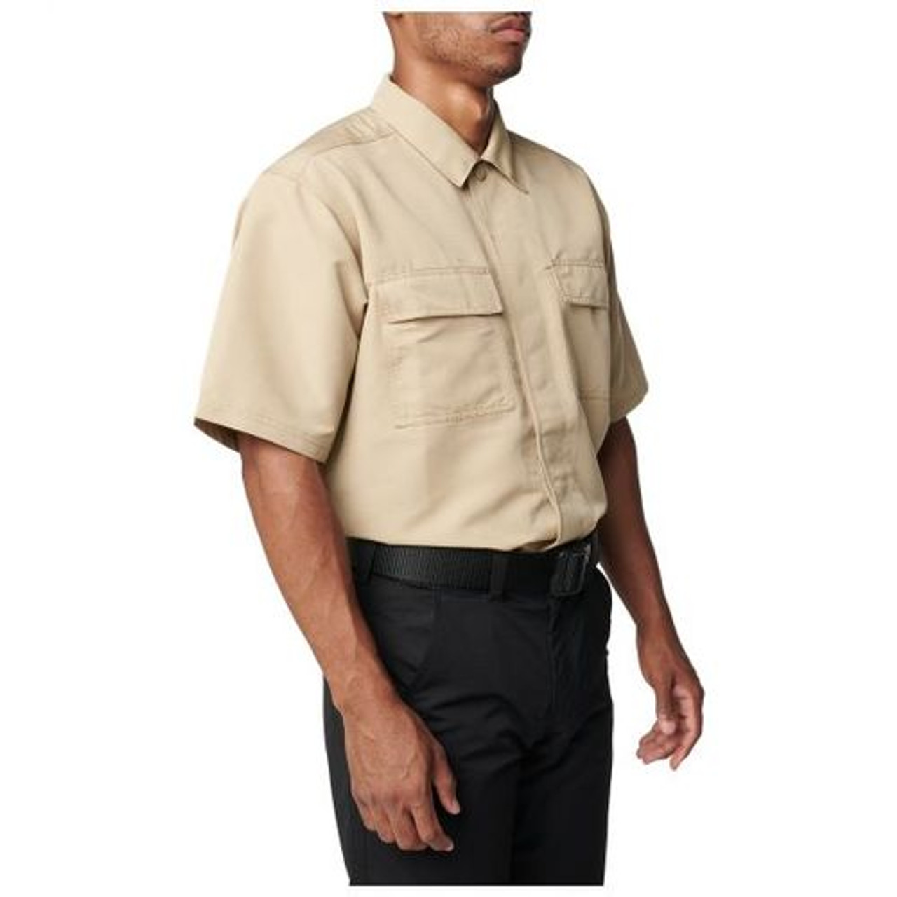 5.11 Tactical 71379 Men's Fast-Tac TDU Short Sleeve Button-Down Uniform Shirt, Water Resistant, Badge Tab, 2 Chest Pockets
