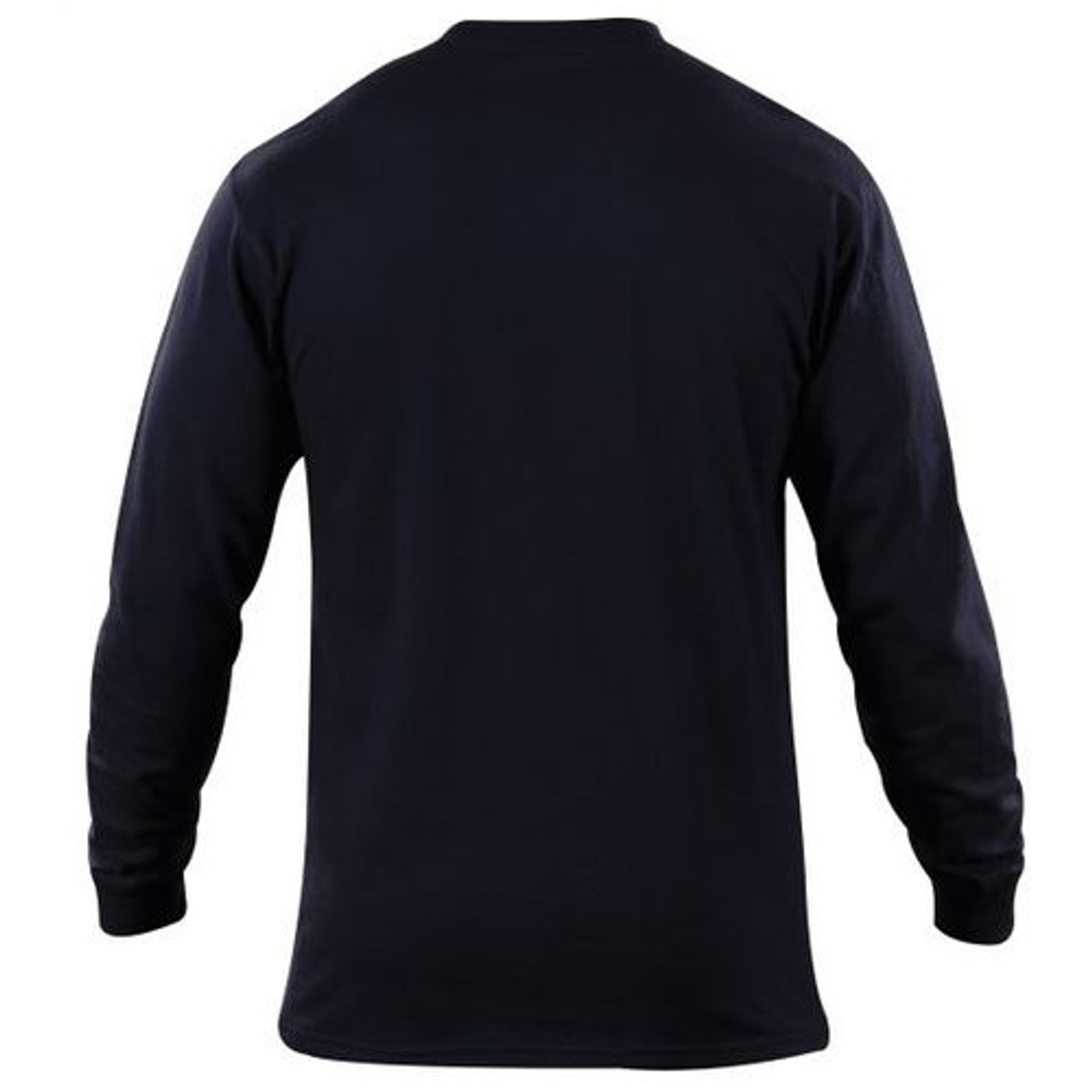 5.11 Tactical Station Wear Long Sleeve Uniform T-Shirt, Sized to Match PDU and TDU Gear, Cotton, available in Fire Navy, 40052