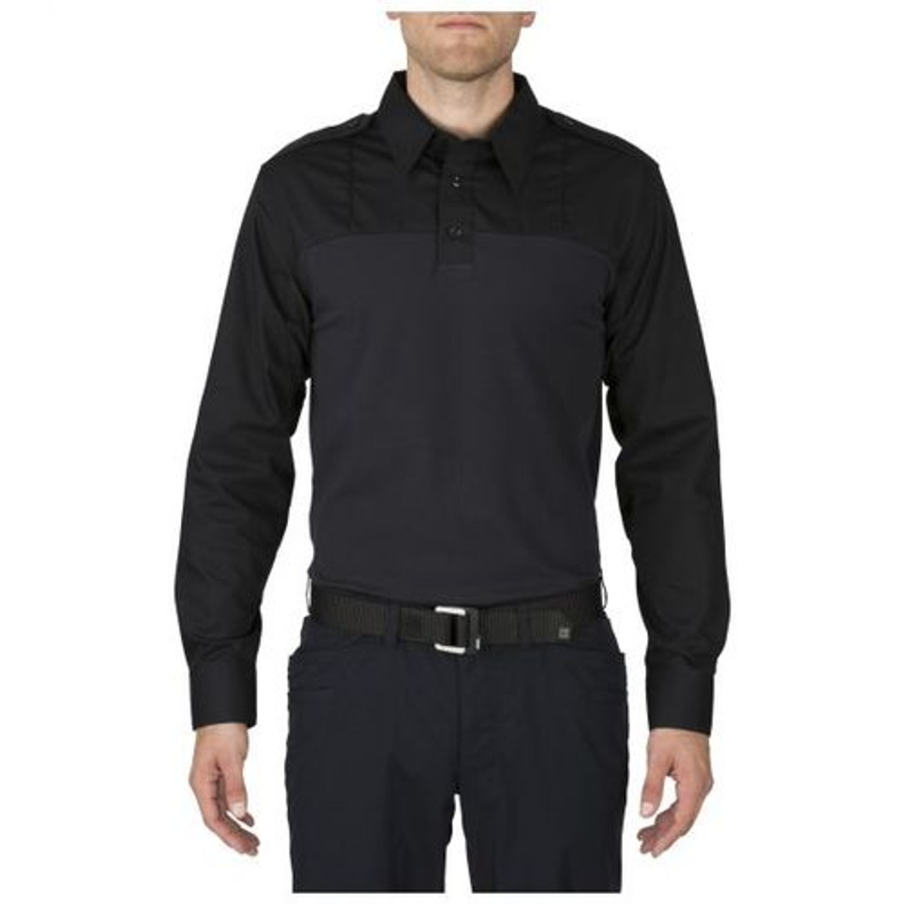 5.11 Tactical 72093 Taclite PDU Rapid Casual/Uniform Long Sleeve Polo Shirt, Polyester/Cotton available in Navy
